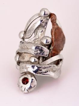 Ring Silber Rustico