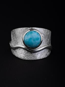 Ring Larimar Welle